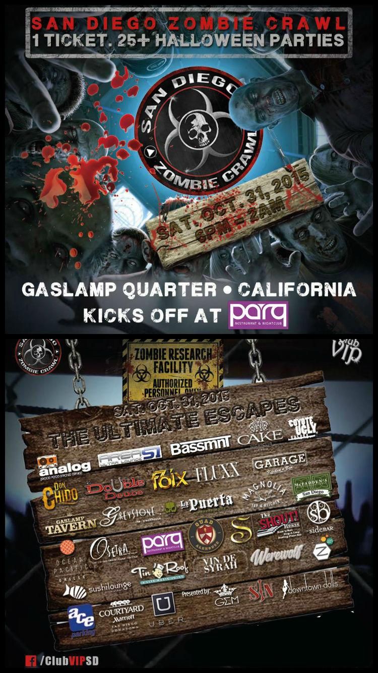 2015 San Diego Zombie Crawl   Parq Restaurant & Nightclub   6pm ...